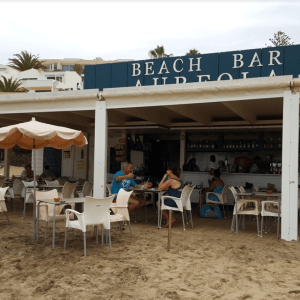 Beach Bar in Costa Calma am Strand